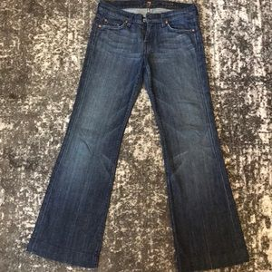 Wide leg 7 for all mankind jeans